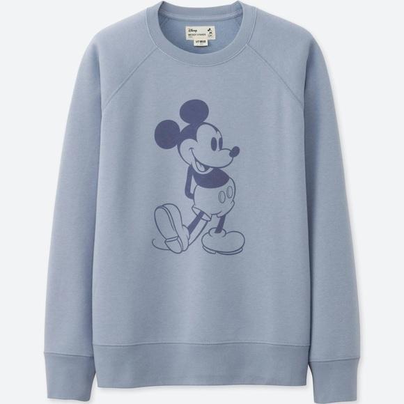 a5956ef04d1a Uniqlo Disney's Mickey Stands Sweatshirt in Blue